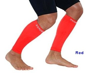 Zensah Leg Sleeves Red